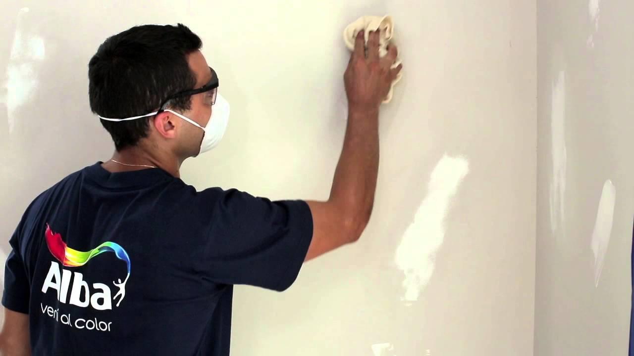 C mo preparar paredes para repintar alba youtube - Como preparar una pared para pintar ...