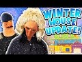 WINTER HOUSE UPDATE WITH HELLO NEIGHBOR'S BROTHER! | Hello Neighbor Mobile Rip off (Angry Neighbor)
