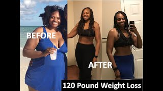 -120 Pound Weight Loss Transformation. Before and After Pictur…