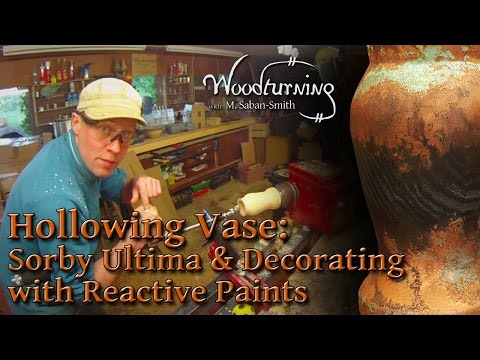 #64 Woodturning - Hollowing with Sorby Ultima and Using Metal Reactive Paint