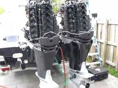 Mercury Verado 300 HP Outboard Engine Survey - Engine Surveyor Palm Beach