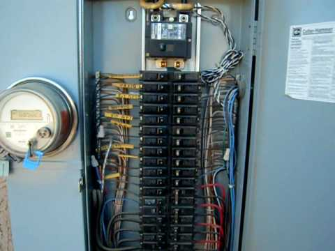 Your home electrical panel youtube for What is the standard electrical service for residential