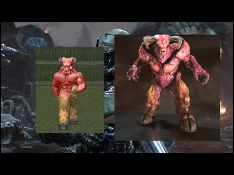 Doom (93-94) vs Doom (2016) - Equivalent Monsters Comparison