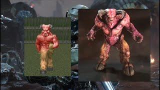 Doom (93-94) vs Doom (2016) - Equivalent Monsters Comparison