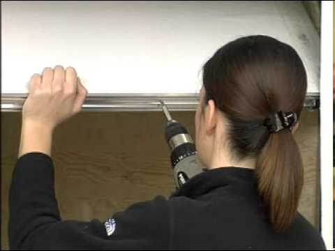 How To Install Weatherstripping Aluminum Vinyl Garage Door