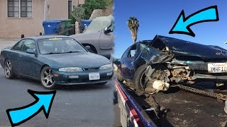 before vs after (day of car crash)