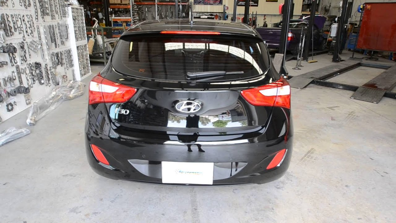 hyundai i30 gd 1 8lt hatch rear sports exhaust muffler. Black Bedroom Furniture Sets. Home Design Ideas