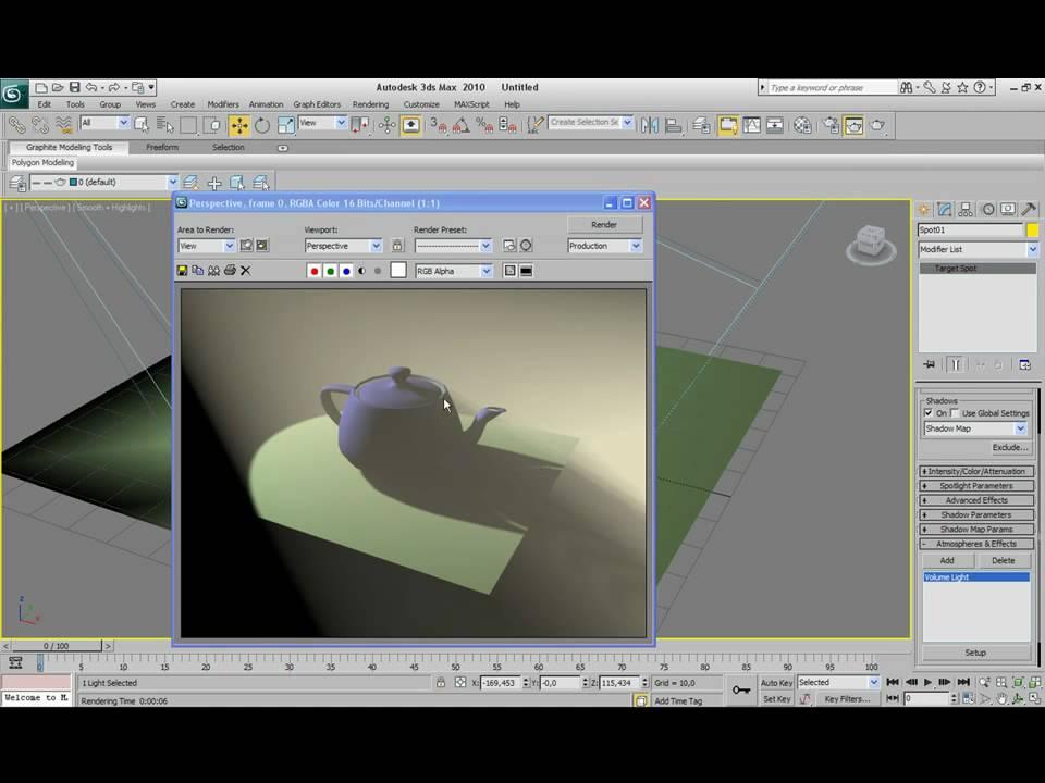 3ds Max Lighting Tutorial Volume Light Youtube