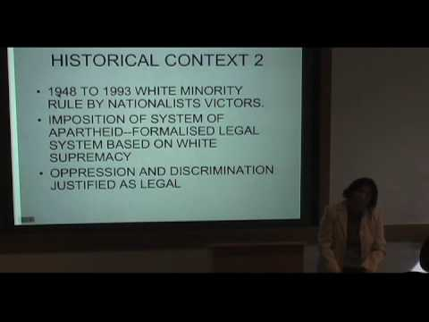 International Studies Symposium Series - Rashida Manjoo Part 1
