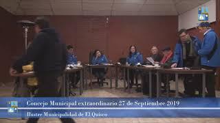 Concejo Municipal extraordinario Viernes 27 de Septiembre 2019