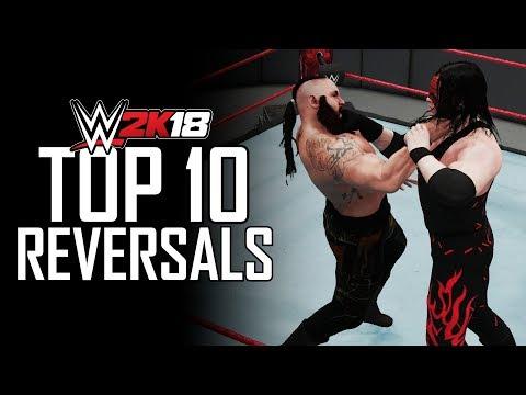 WWE 2K18 - Top 10 Reversals (Reversal Animations)