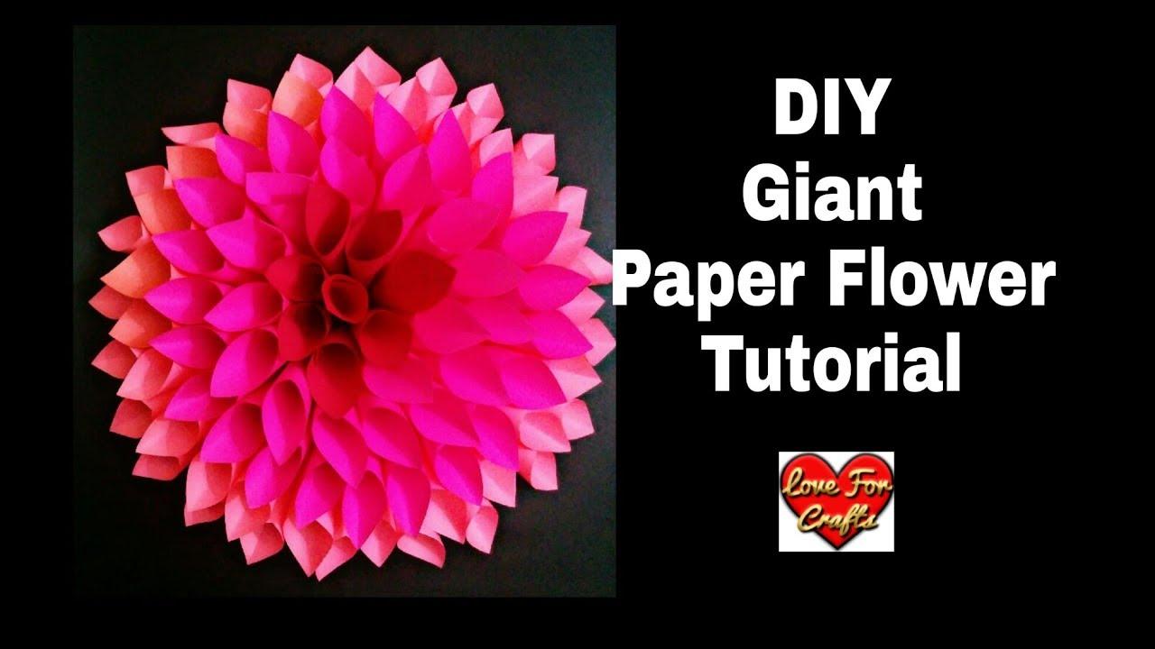 cf8a1afad3 DIY - Giant Paper Flower Tutorial