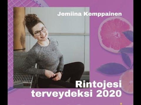 """Rintojesi terveydeksi 2020: """"Hyvinvoinnista - Niskasta vai kädestä kiinni?"""" -Jemiina Kemppainen"""