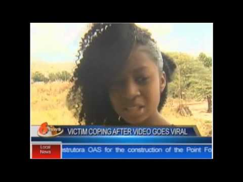 "TV6 NEWS - DENISE BELFON Laughs as Daughters ""Beats and Drags"" young Lady and steals her phone"