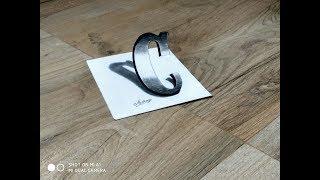 3D letter Drawing - 3D Letter C Drawing in Western style - Art Maker Akshay