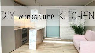 DIY miniature Dollhouse Kitchen for Barbie