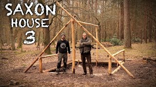 Building a Saxon House with Hand Tools: Timber Frame | Bushcraft Project (PART 3)
