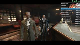 Dishonored 100% (Yes) speedrun 1:23:46.75 (WR)