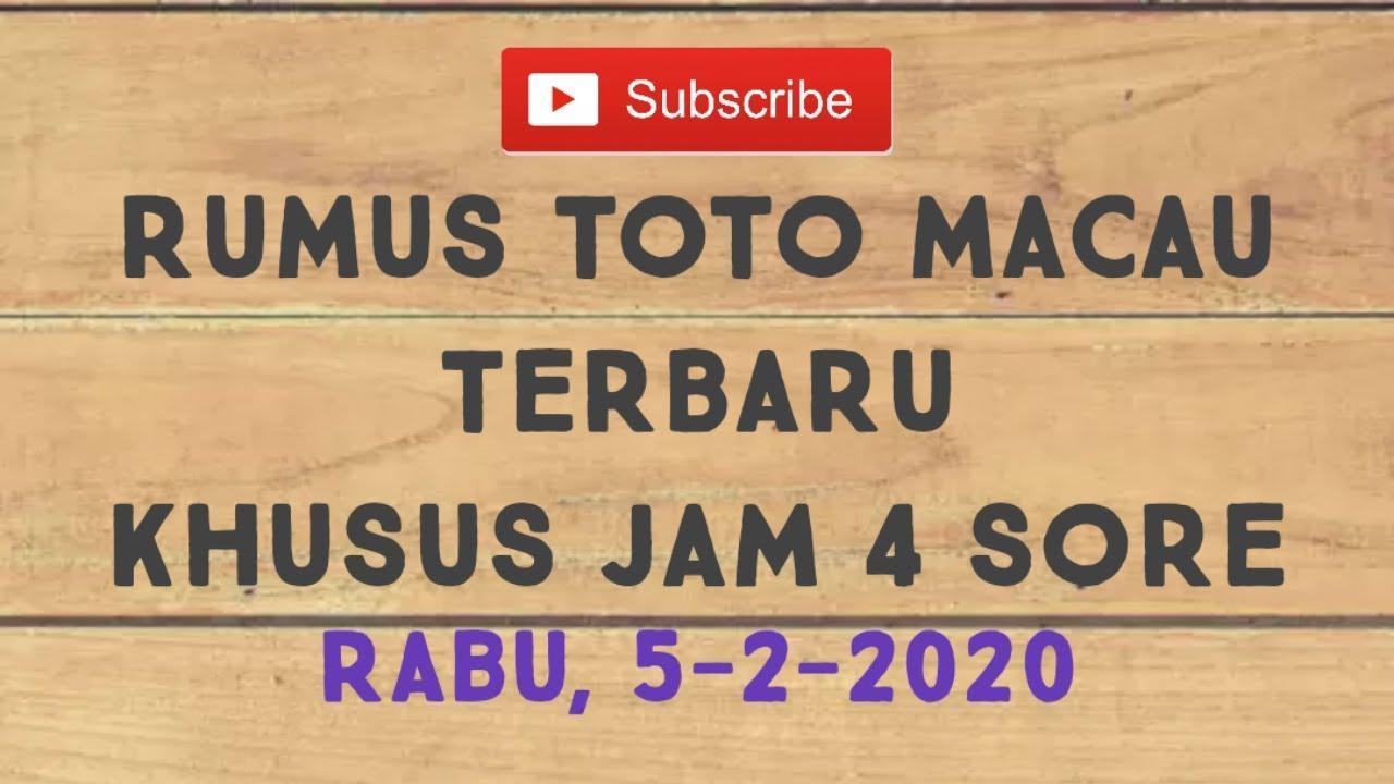 RUMUS TOTO MACAU TERBARU - YouTube