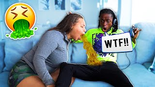INSANE THROW UP PRANK ON BOYFRIEND!!!(GONE WRONG)