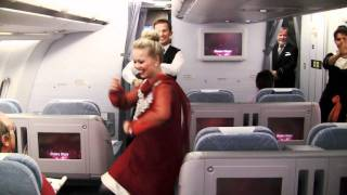 Finnair crew members surprise passengers with in-flight Bollywood dance !!!! IN HD !!!!