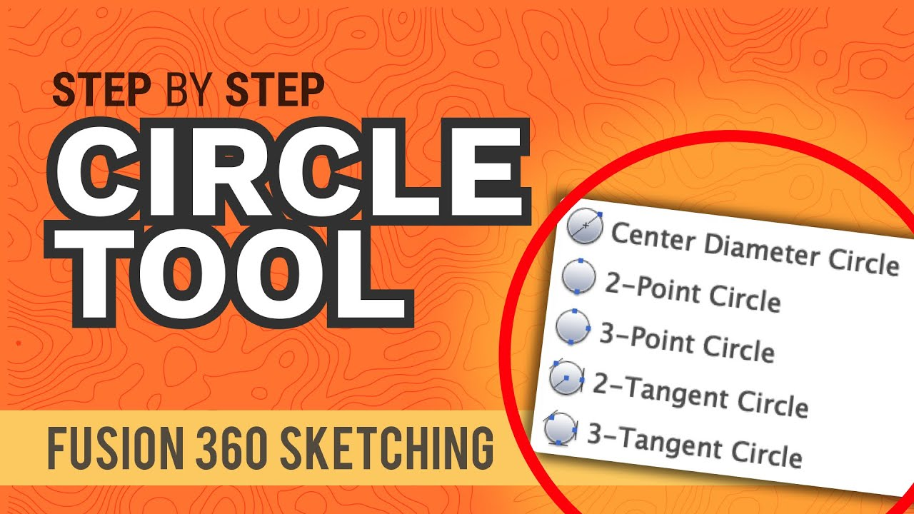 How to Use the Circle Command in Fusion 360 (all 5 explained)