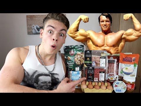 Ich esse 1 Tag lang wie ARNOLD SCHWARZENEGGER (über 4000 Kalorien clean)