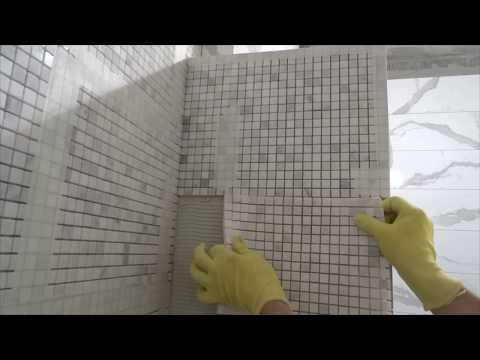 Как укладывать мозаику видео