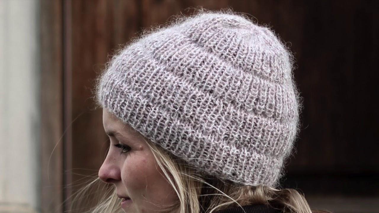 милая шапка бини анкер простое вязание спицами Youtube