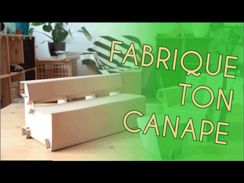 fabriquer un canap en carton meubles cologiques youtube. Black Bedroom Furniture Sets. Home Design Ideas