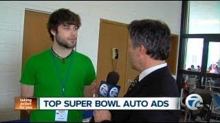 WXYZ-TV visits Super Bowl Ad Nauseum event at UDM