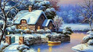 Алмазная мозаика. Зимний пейзаж. Обзор набора