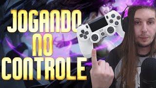 JOGANDO LEAGUE OF LEGENDS NO CONTROLE DE PS4? + Aviso Campeonato