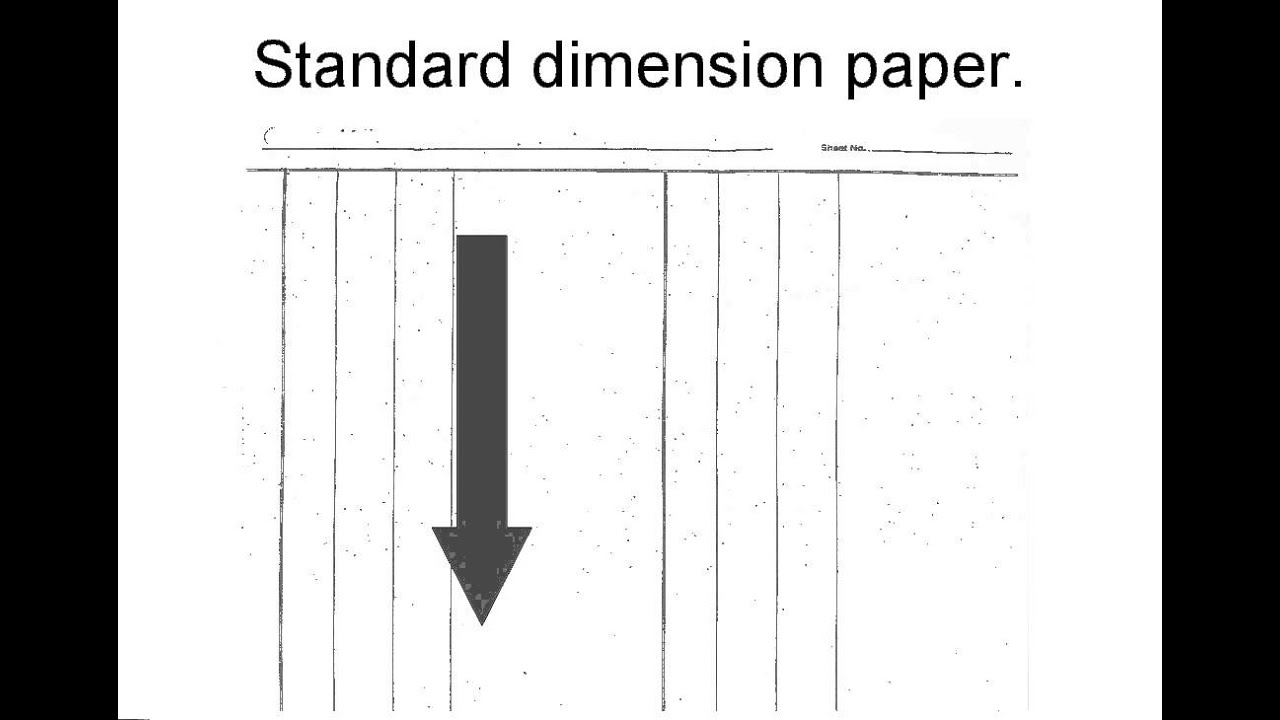 Standard Dimension Paper - YouTube