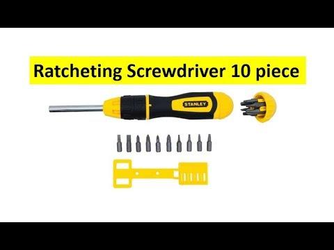 10 Bits STANLEY Multibit Ratchet Screwdriver
