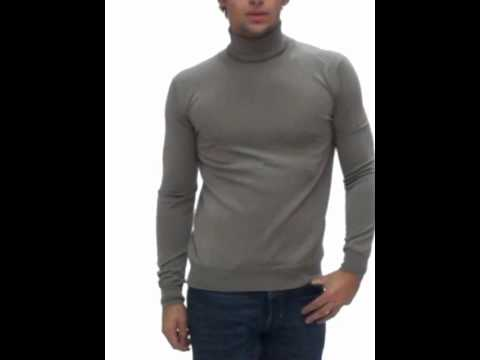 pull col roul homme ck taupe mk404 123 youtube