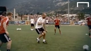 Guardiola joins in Bayern Munich tiki-taka training session