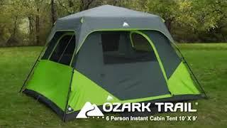 Ozark Trail 6 Person Instant Cabin Tent   Barraca Instantanea para 6 pessoas