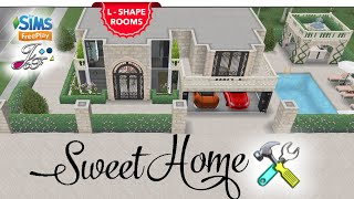 Sims FreePlay 🏰  L - SHAPED ROOMS + 1x1 PILLARS    TOUR \u0026 LIVE BUILD 🚧🛠 By Joy