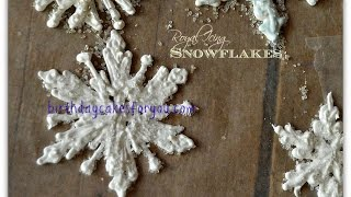 How To Make Beautiful Royal Icing Snowflakes