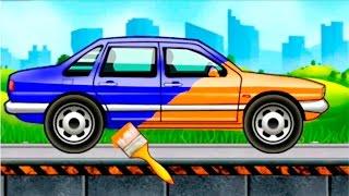 Машинки мультики. Мультик раскраска. Учим цвета и виды машин.Седан.1 серия.