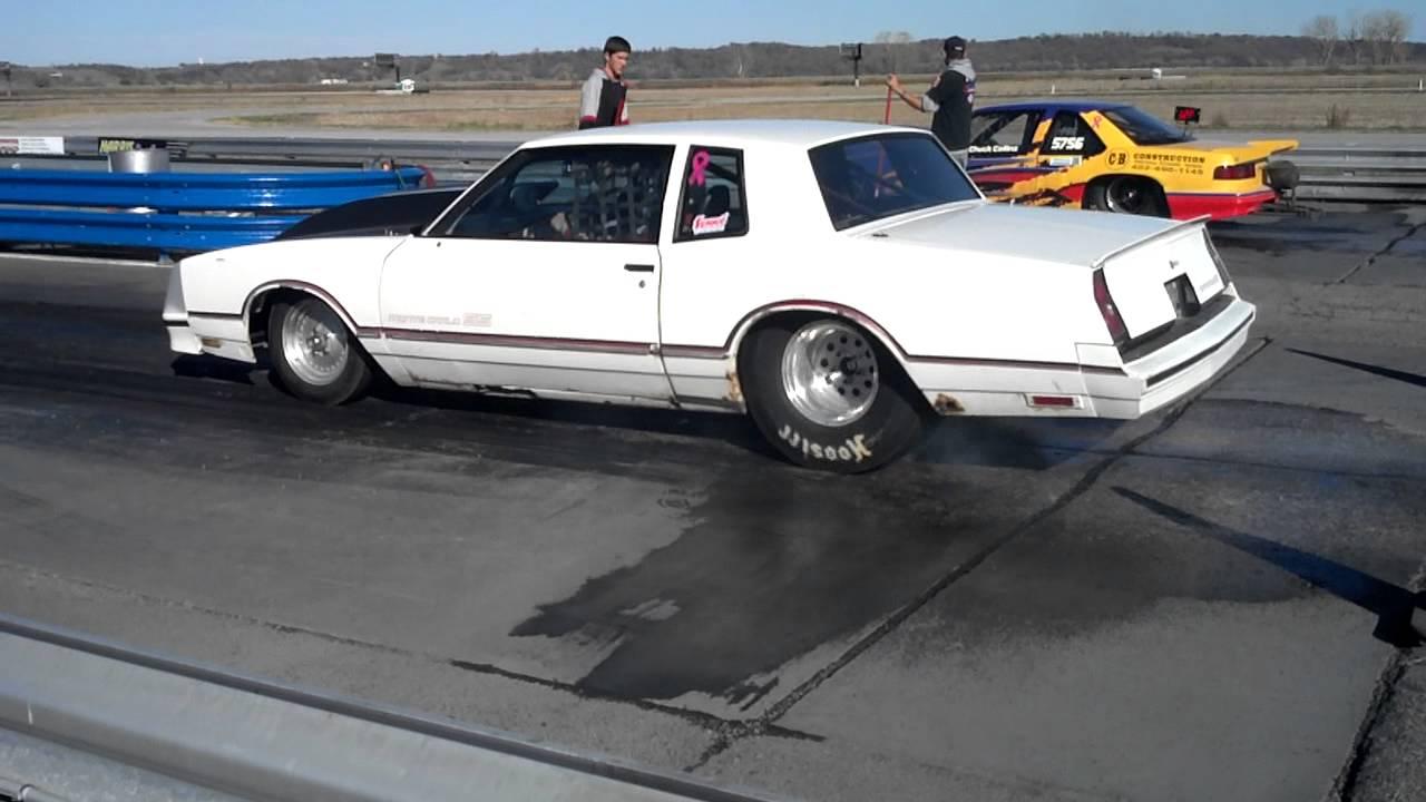 86 Monte Carlo SS Drag Car Burnout - YouTube