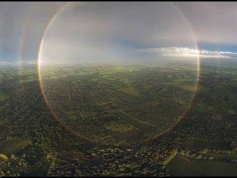 ¿Arco iris circular captado en San Petersburgo? 2017
