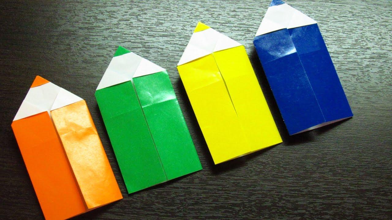 Como Hacer Lapices De Colores Super Cool Origamis De Papel Muy Fácil