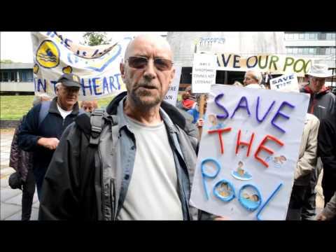 Quarry Pool protest in Shrewsbury