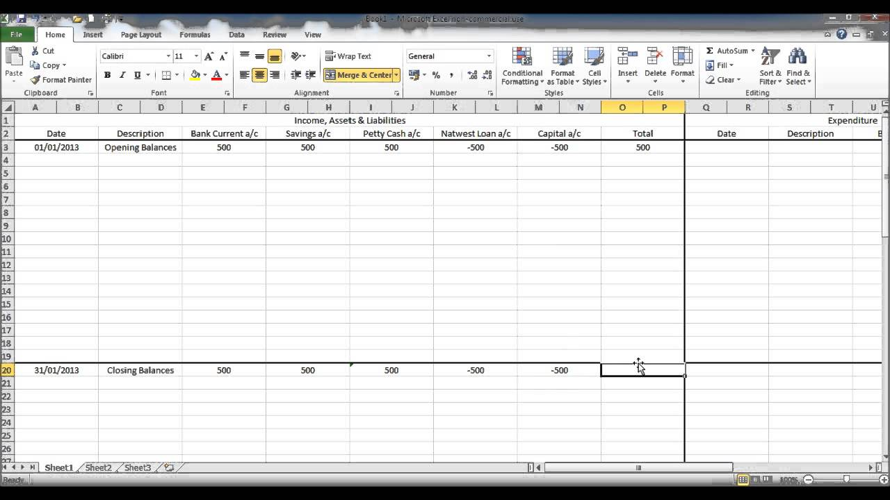 create a bookkeeping spreadsheet using microsoft excel