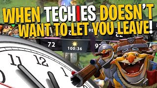 When Techies Doesn't Want You To Leave - DotA 2