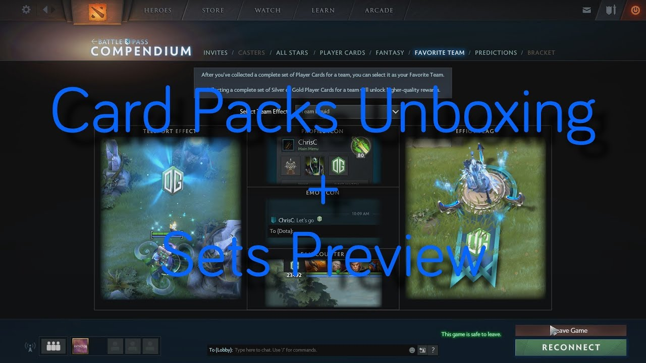 Dota 2 Immortal Items And Player Cards Released: Player Card Packs Unboxing + Sets Preview