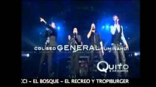Backstreet Boys BSB en Ecuador 2011 - en concierto Quito - Entradas punto de  venta