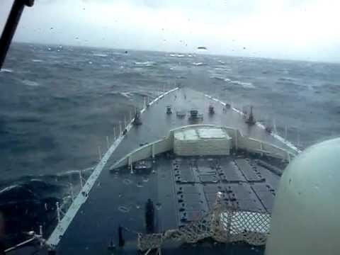 Canadian Navy HMCS Iroquois 280 in heavy seas